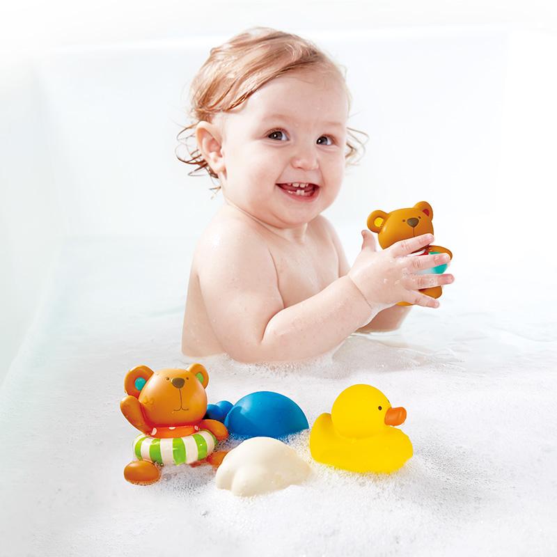 Juguetes acu ticos para la hora del ba o del beb - Juguetes bano bebe ...