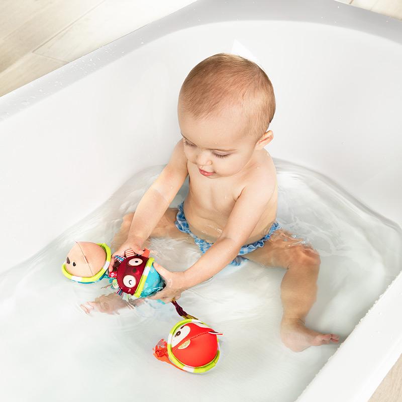 3 Pelotas para el Baño con Ventosa