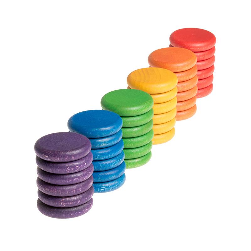 36 Monedas de Colores