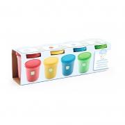 4 Botes de Plastilina Colores Básicos