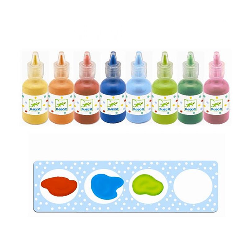 8 Botes de Témpera de Colores