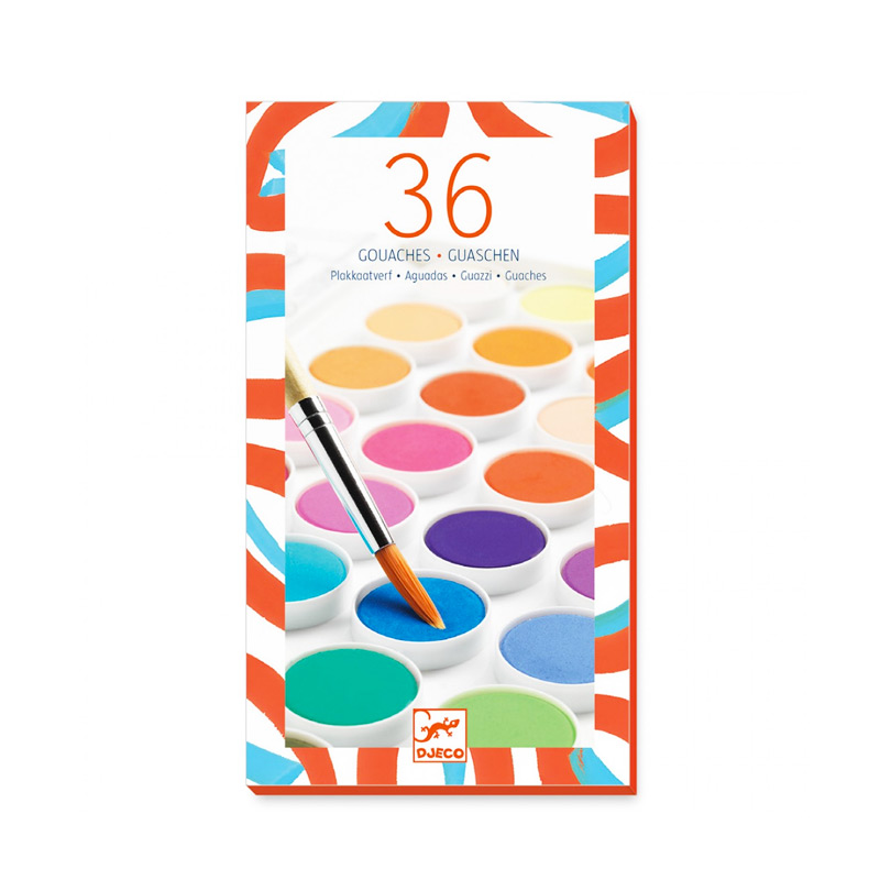 Acuarelas de 36 colores