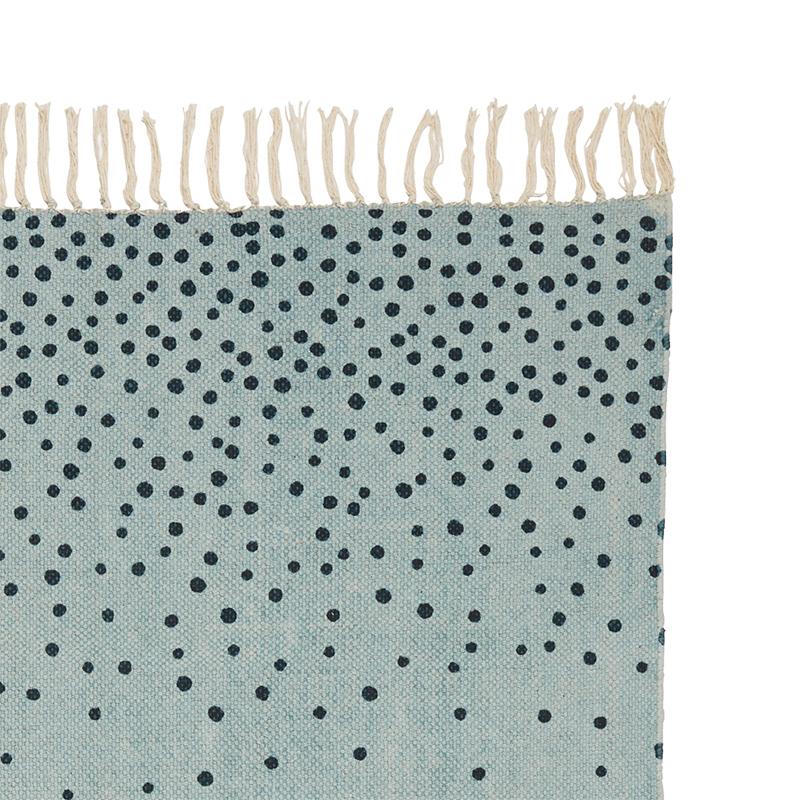 Alfombra Topos Azul: 90 x 120 cm