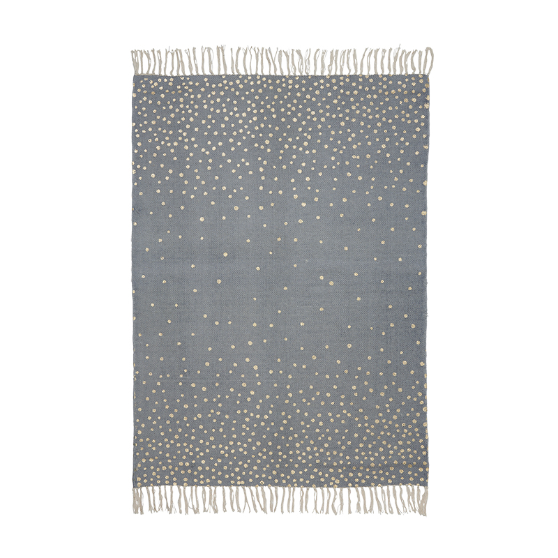 Alfombra Topos Gris: 90 x 120 cm
