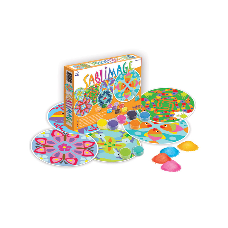 Arena de colores sablimage mandalas de sentosph re en minikidz for Arena de colores