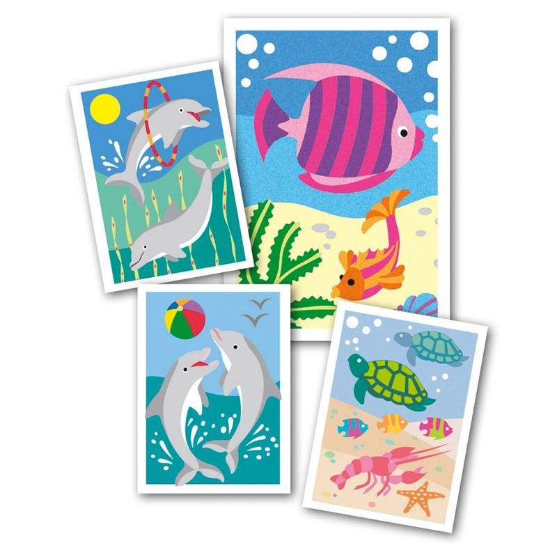 Arena de Colores Sablimage Peces y Delfines