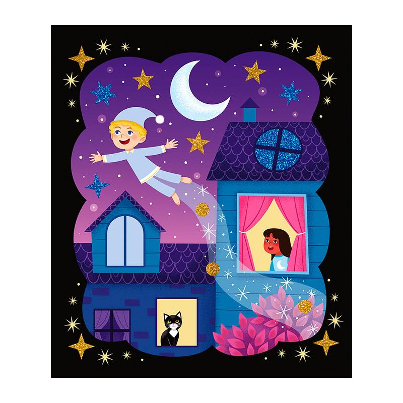 Arenas Fosforescentes y Purpurinas: Noche Mágica