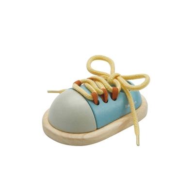 Ata el Zapato Azul Pastel