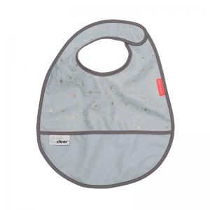 Babero con Velcro: Contour Gris