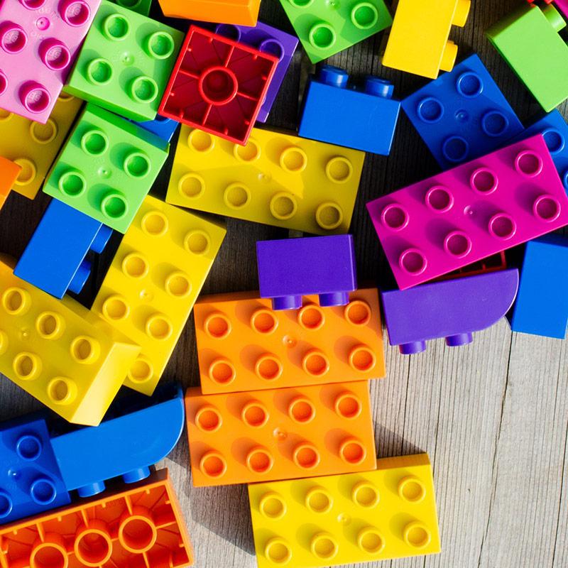 Bloques Estepa 14 piezas: Jirafas y Alce