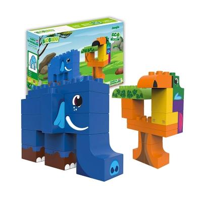 Bloques Jungla 27 piezas: Elefante y Tucán