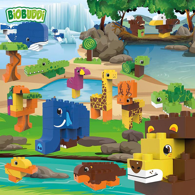 Bloques Pantano 12 piezas: Tortuga y Caracol