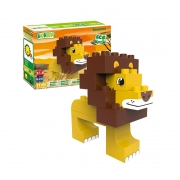 Bloques Sabana 11 piezas: León y Avestruz