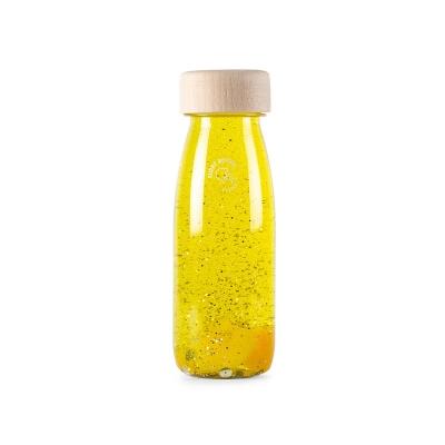 Botella Sensorial Flotante Amarilla