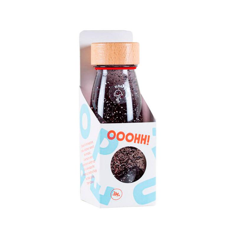 Botella Sensorial Flotante Negra