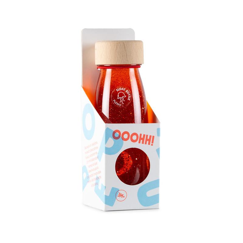 Botella Sensorial Flotante Roja