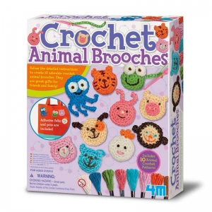 Broches de Animales con Crochet