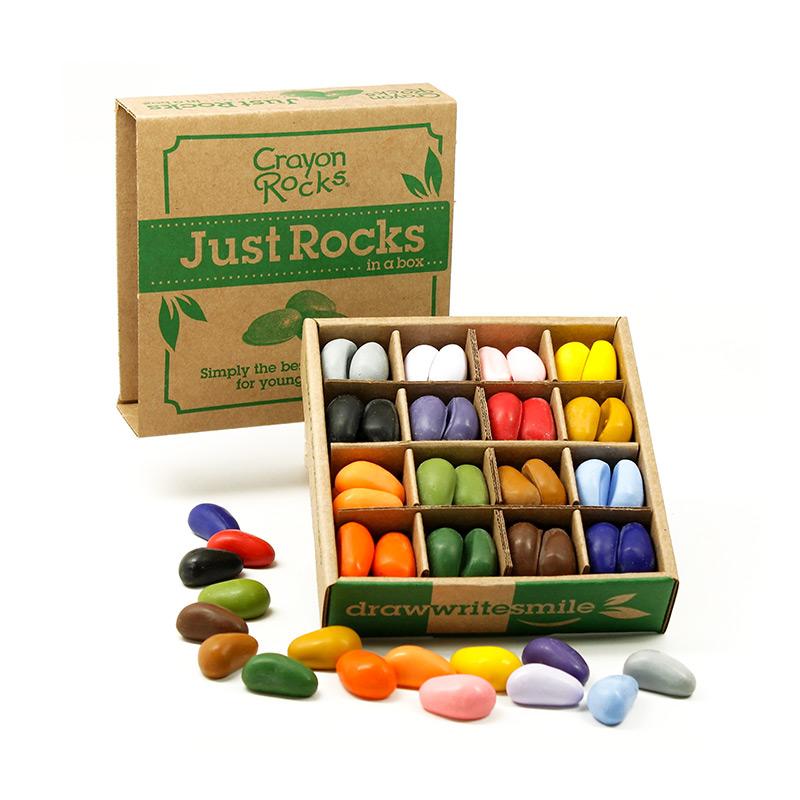 Caja con 64 Ceras de Colores Crayon Rocks