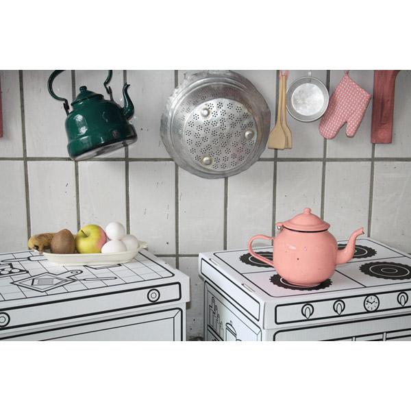 Cajas de cart n para pintar cocina de villa cart n en minikidz - Cajas para cocina ...