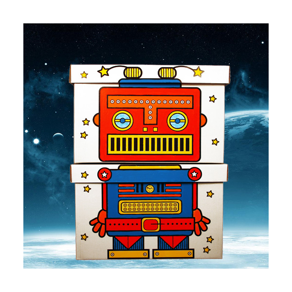 cajas de cart n para pintar robot de villa cart n en minikidz. Black Bedroom Furniture Sets. Home Design Ideas