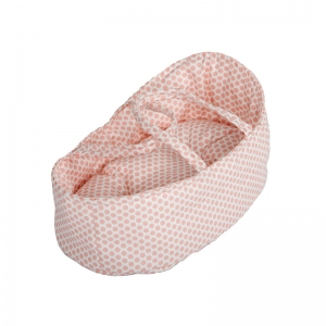 Capazo para Muñecas 26 cm: Topos Rosa