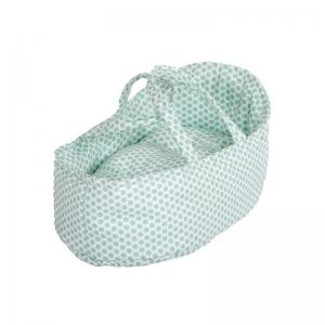 Capazo para Muñecas 26 cm: Topos Verde