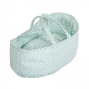 Capazo para Muñecas 36 cm: Topos Verde