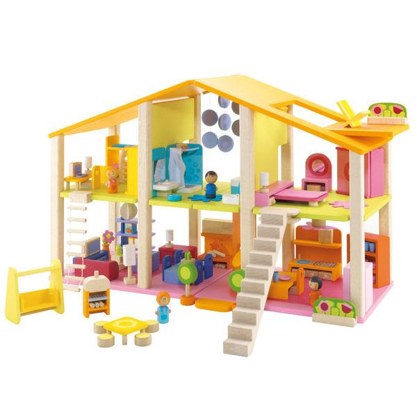 Casa de mu ecas con muebles de sevi en minikidz for Muebles casa de munecas