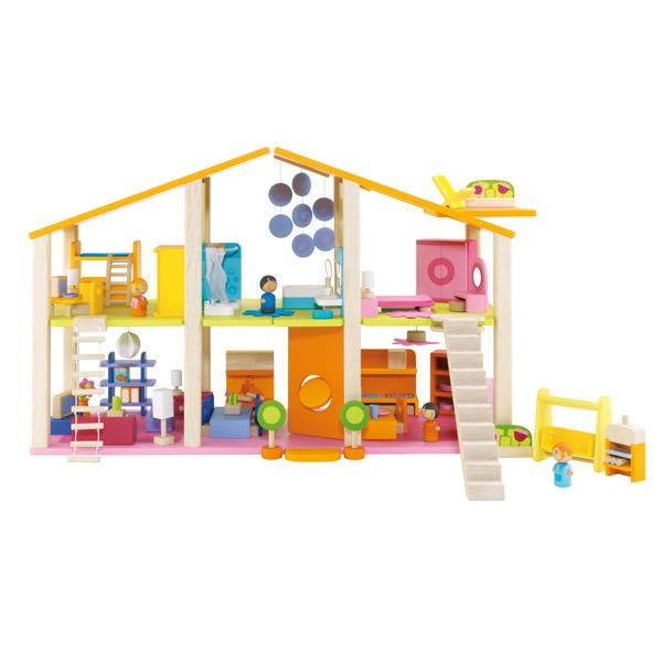 Casa de mu ecas con muebles de sevi en minikidz for Casa con muebles transformables