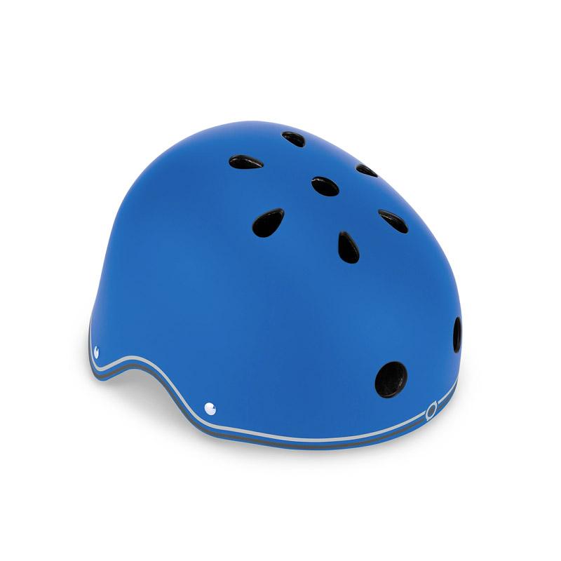 Casco Junior con Luces Azul