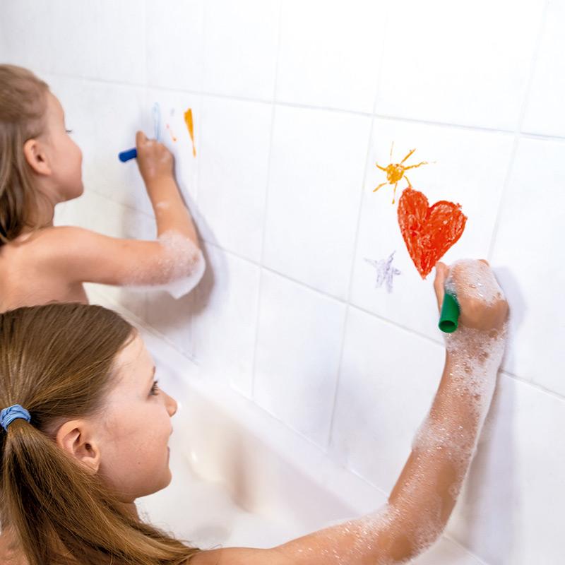 Ceras y Esponja para Colorear en el Baño