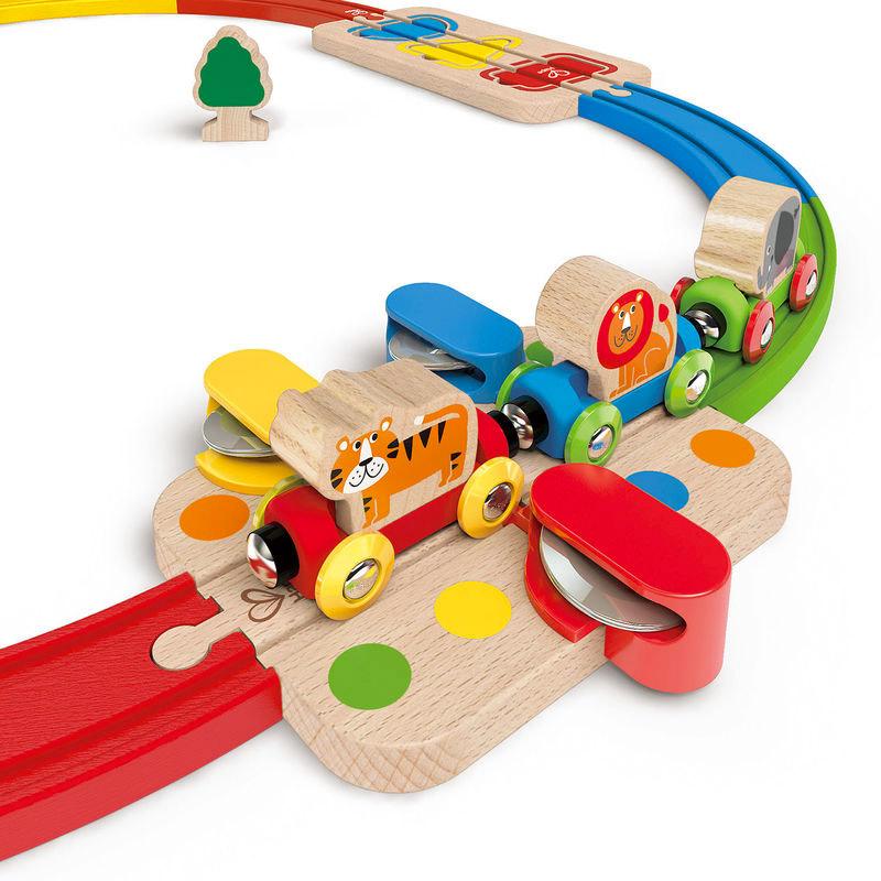 Circuito Infantil: Tren Musical con Encajable y Pasabolas
