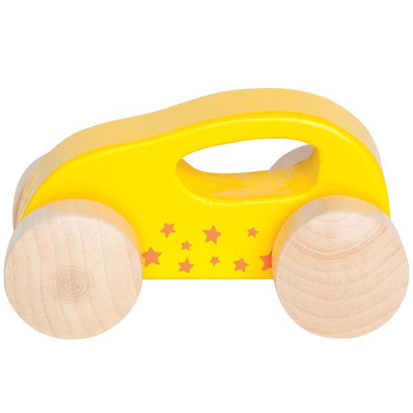 Coche de madera Amarillo