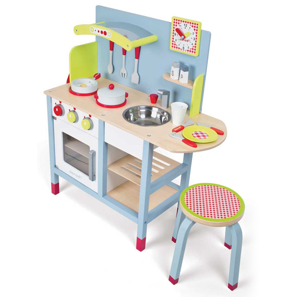 cocina de madera picnik duo de janod en minikidz. Black Bedroom Furniture Sets. Home Design Ideas