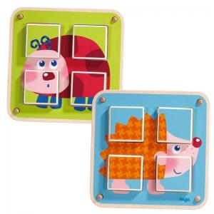 Cubos de Puzzle: Animales de Jardín