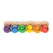 Cuencos y Bolas de Colores