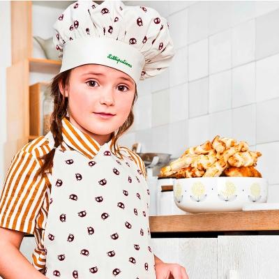 Delantal con gorro de chef Emoti Georges