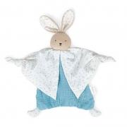 Doudou de Algodón Orgánico Conejo Azul