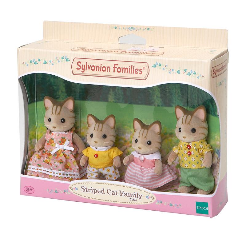 Familia Gatos Rayas