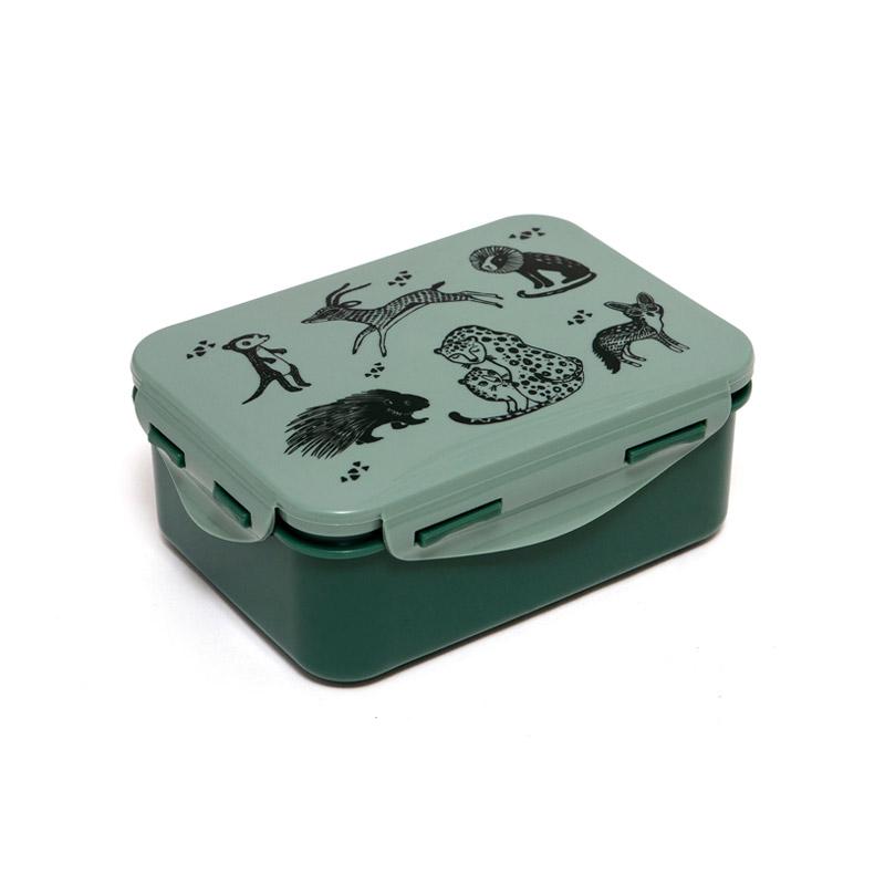 Fiambrera Black Animals Verde