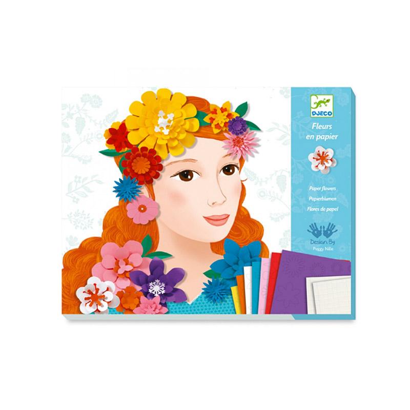 Flores de Papel: Chicas con flores