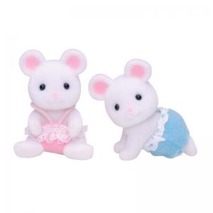 Gemelos Ratones Blancos