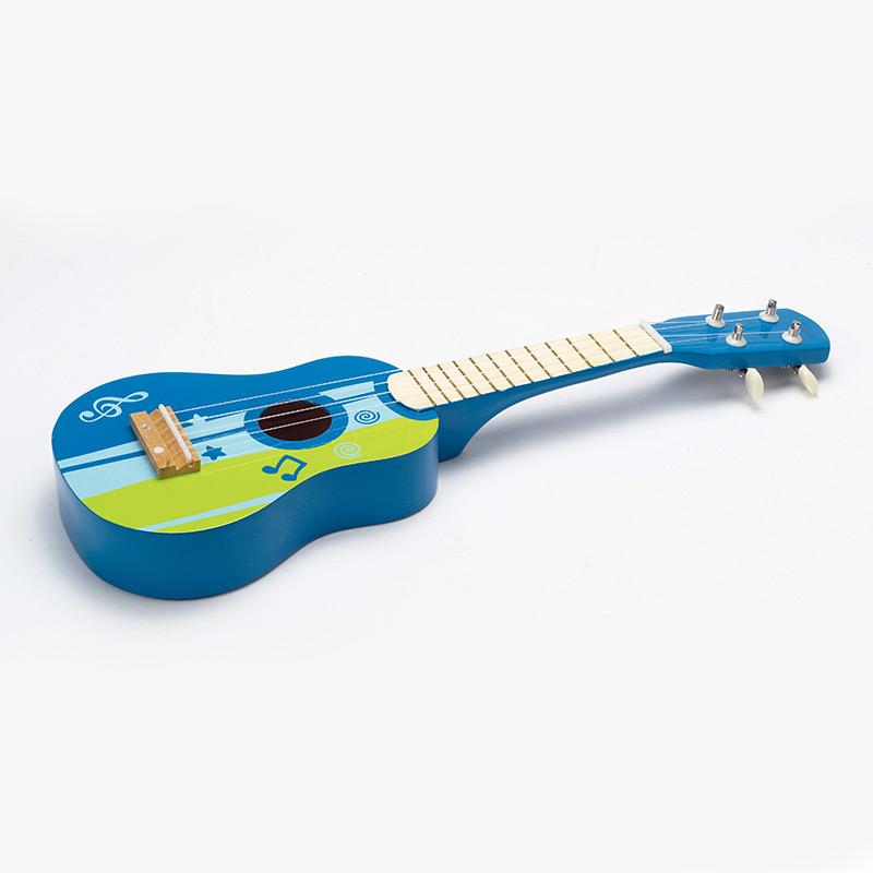 Guitarra de madera Azul