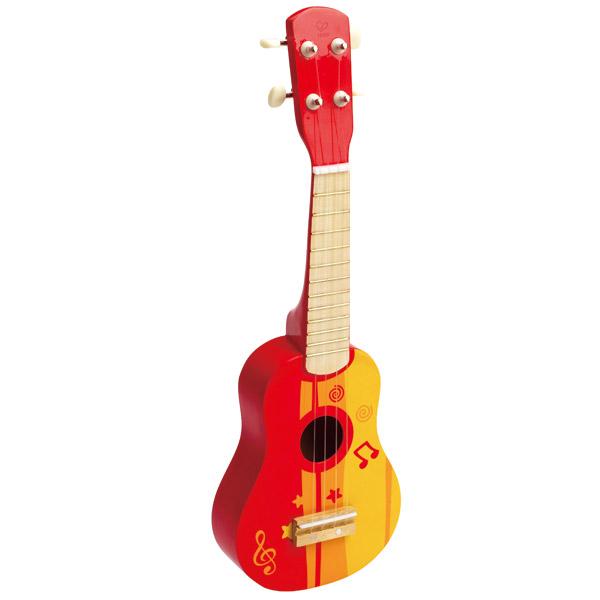 Guitarra de madera Roja
