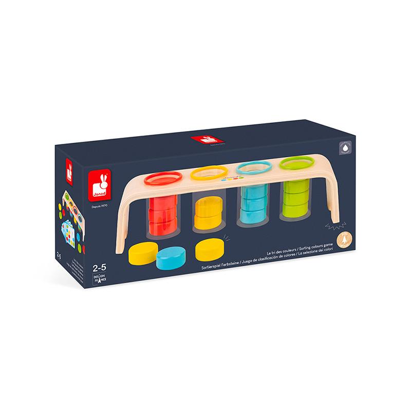 Juego de clasificar colores con Essentiel