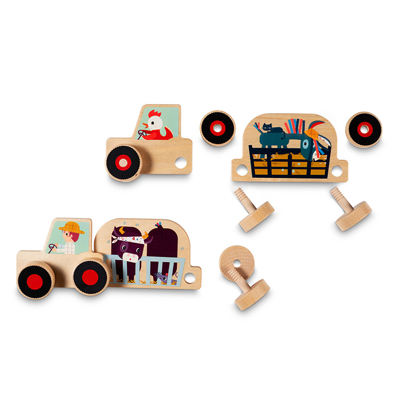Juego de Construcción Tractor