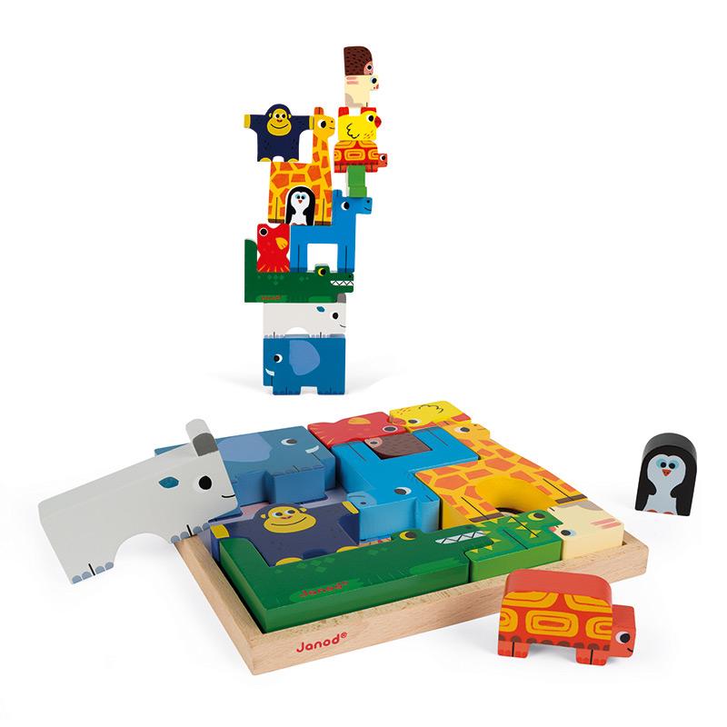 Juego de Equilibrio y Puzzle de Animales