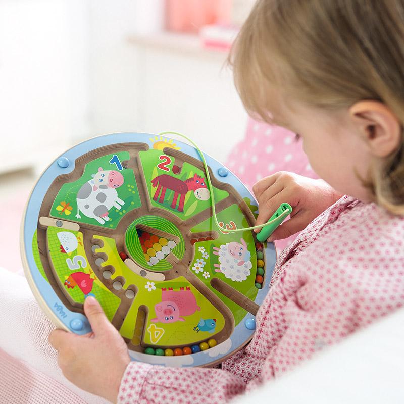 juguetes educativos de madera para nios juego magntico laberinto de nmeros