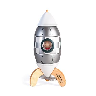 Kit Cohete Magnético Plateado