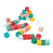 Kubix 40 Cubos de Letras y Números con Puzzle